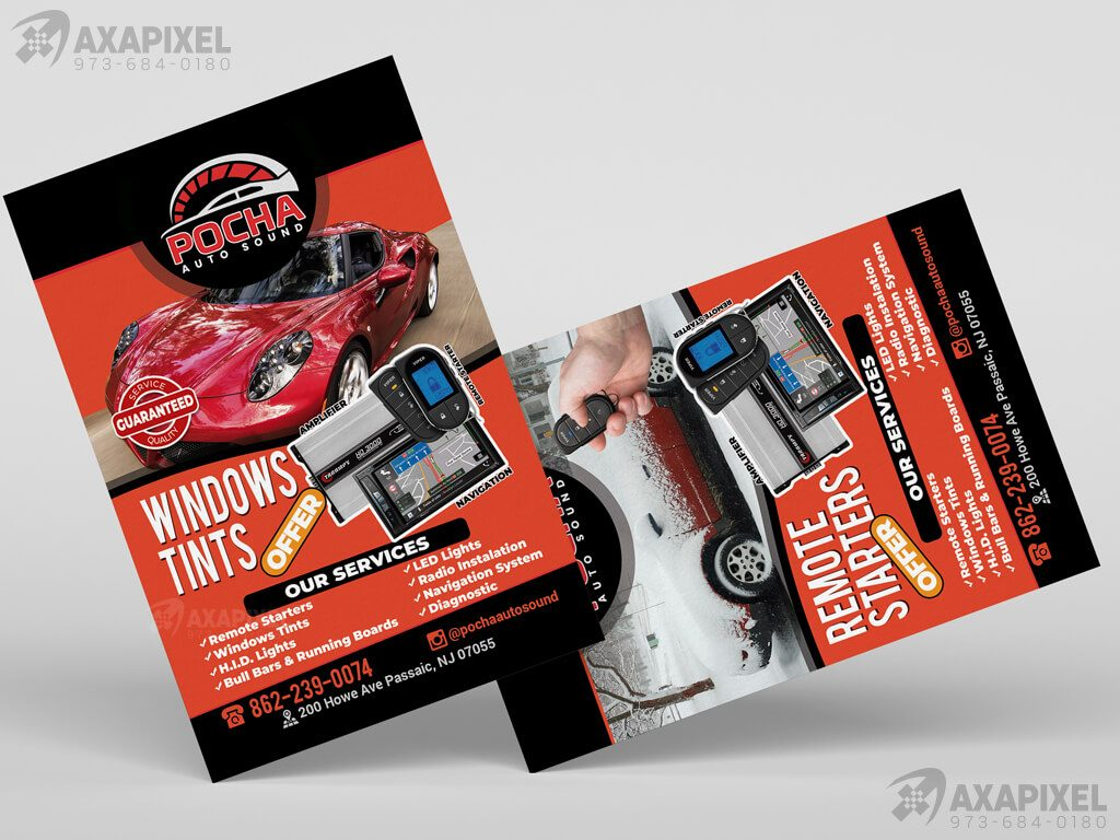Axapixel-web-design-Pocha-Auto-Sound-Flyer