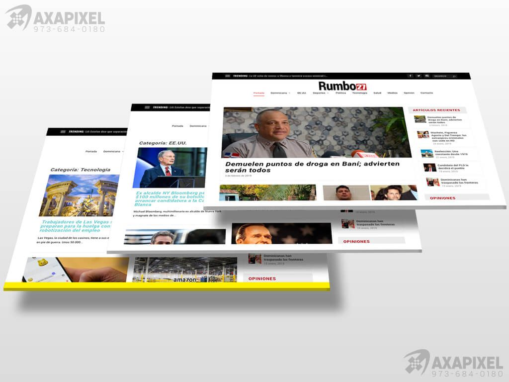 Axapixel web design rumbo27 web